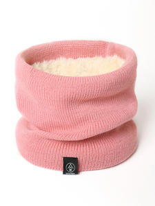 Knitted Scarf Neck Winter Snood Wool Warm Cashmer-Like Unisex Women Lady Solid Fur Ring