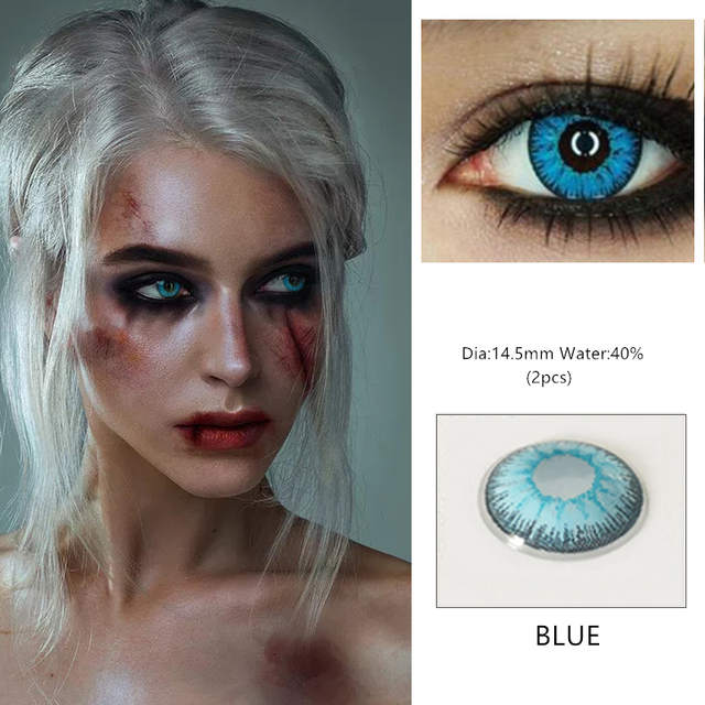 EYESHARE 1 Pair  Beautiful Pupil  Eye Cosmetic Colorful Contact Lens Halloween Cosplay Lenses Crazy Lens for Eyes 3