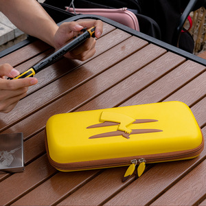 For Nintendo Switch Storage Case NS Yellow Picachu Enhanced Bag Anti Shock Hard Case Waterproof Pouch(China)