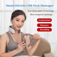 Электрический usb для шеи и плеч массажер Пульс умный Управление