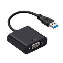 USB 3.0 に VGA アダプタケーブル外部グラフィックカードビデオマルチディスプレイコンバータアダプタ Pc は、 Windows 7 8 10