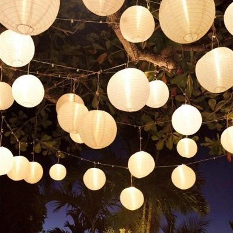1pc10cm-60cm Tròn Trung Quốc Lồng Đèn Giấy Sinh Nhật Trang Trí Lễ Cưới Tặng Thủ Công TỰ LÀM Lampion Trắng Treo Đèn Lồng Bóng Dự Tiệc Cung Cấp