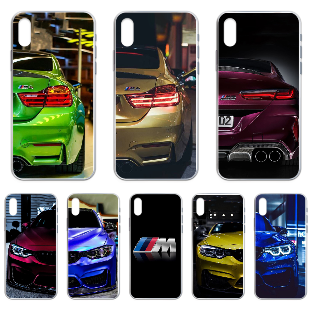 Blue Red Car for Bmw Phone Case cover For iphone 4 4S 5 5C 5S 6 6S PLUS 7 8 X XR XS 11 PRO SE 2020 MAX transparent Etui image