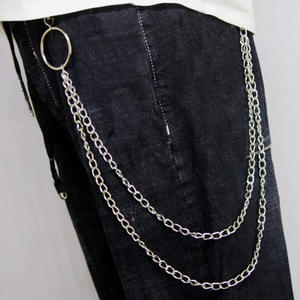Metal Trousers Pant Chain Wallet Belt Rock Punk Jeans Keychain Silver Ring Clip Keyring HipHop Trendy Jewelry