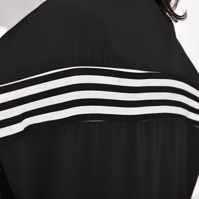New Fashion Style Black Striped Split Big Size Shirt Dress Fashion Nova Clothing