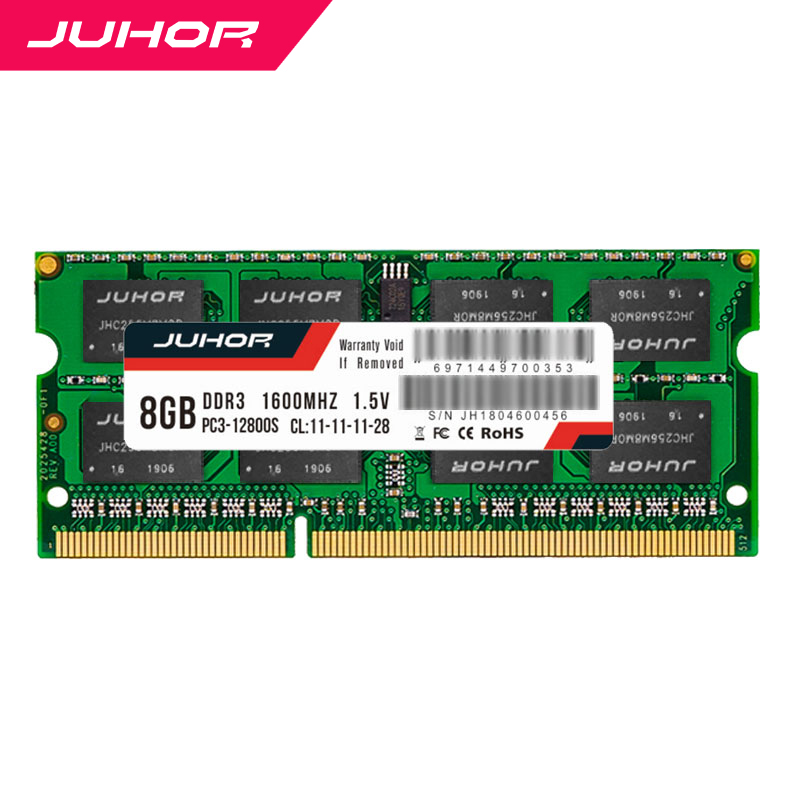 JUHOR <font><b>ddr3</b></font> in RAMS <font><b>4gb</b></font> 8gb laptop Memory with Heat <font><b>sodimm</b></font> 1333mhz 1600mhz nb RAM 1.35V 1.5V New dimm Ship memoria ram image