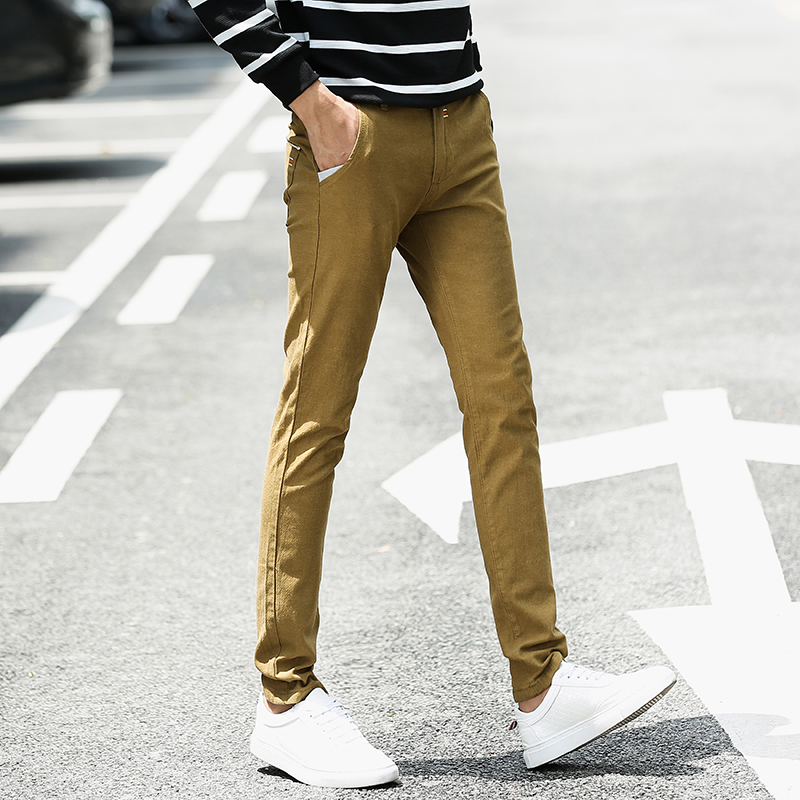 2020 Spring Autumn New Business Casual Straight Work Official Pants Men Cotton Slim Chinos Fashion Trousers Male Brand Clothing