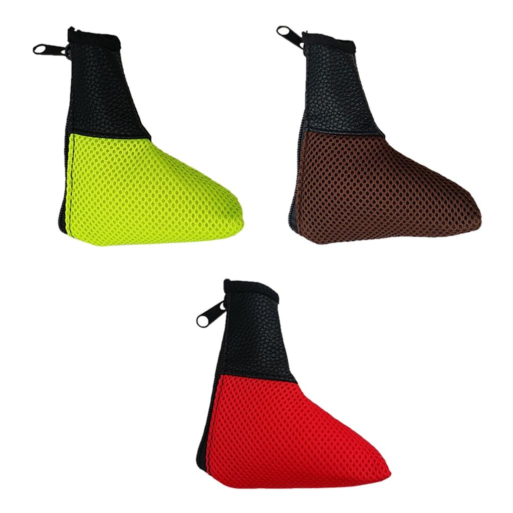 1 pièce maille PU Golf Golf lame Putter tête couvre fermeture éclair couvre-chef Golf protecteurs durables lavable rouge jaune marron