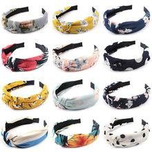 12 Pack Hairbands for Women Knot Headbands Hairband Floral Print Turban Headband Knotted (12 )