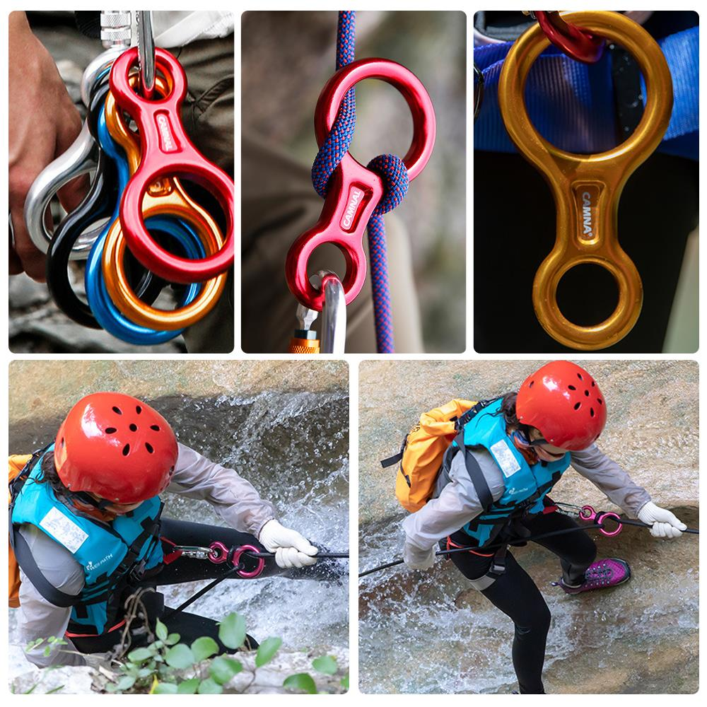 Details about  /8 Word Ring 35KN Downhill Outdoor Rock Climbing Cable Protector Descender