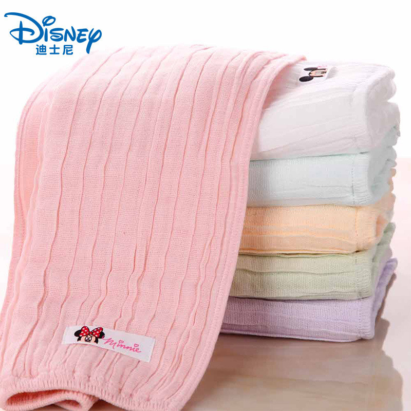 Disney Mickey Minnie Cotton Gauze Child Baby Towel Cartoon Children Soft Quick-drying Absorbent Towel Baby Square Handkerchief