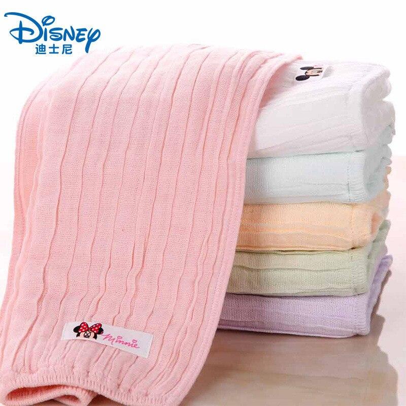 Disney Mickey Minnie Cotton Gauze Child Baby Towel Cartoon Children Soft Quick-drying Absorbent Towel Baby Square Handkerchief