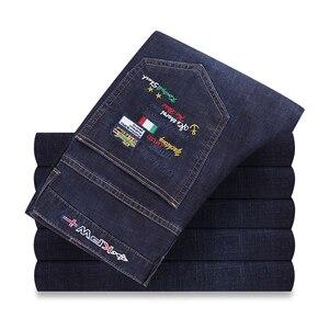 2020 Hot Sale Fashion Designer Jeans Eden Top Quality Mens Jeans Shark Pants Brand Men Straight Dark Blue Maschi Pants 501