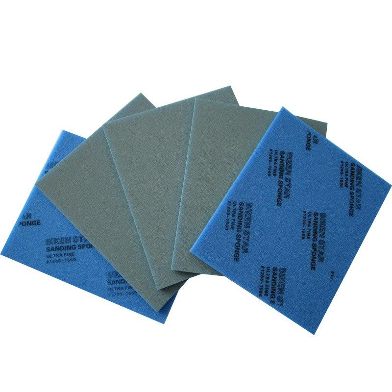 115*140mm Wet & Dry Sponge Sanding Self-adhesive Disc Sandpaper Rectangular 800-1500 Grit Polishing Grinding Tools