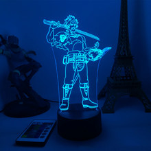 Anime 3d Led Light Black Clover Yami Sukehiro Night light for Bedroom Decor Night lights Manga Birthday Gift Room Led Night Lamp