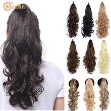 MEIFAN длинные волнистые волосы на заколках конский хвост волосы синтетические парики для наращивания Стиль Коготь пони хвост шиньон для женщин Косплей Вечерние