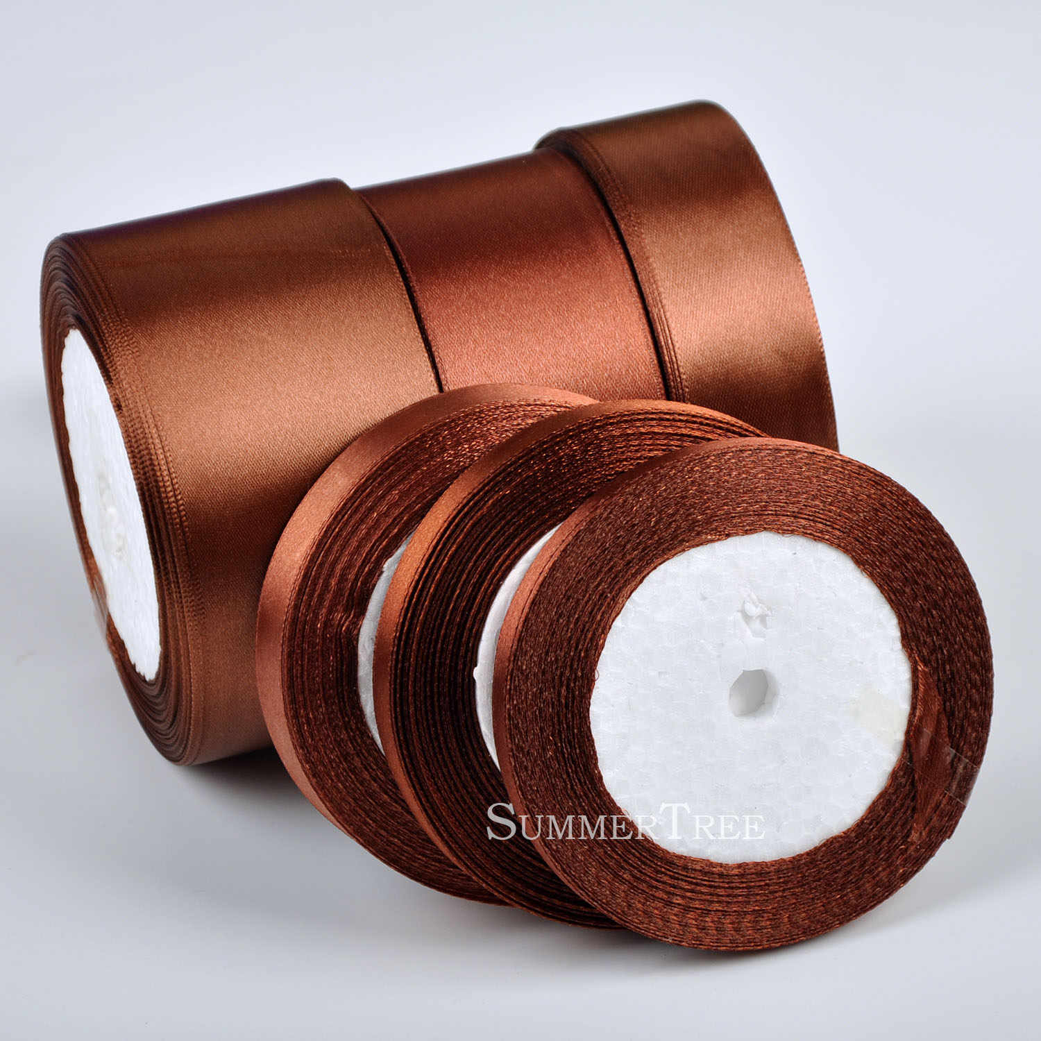 25 Yards Satin Ribbon Wedding Party Decoration Craft Sewing Wine Colors 6mm-50mm