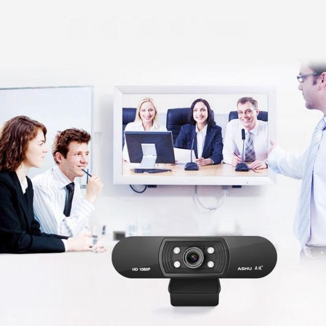 In stock Webcam Usb Full Hd 1080p 1920x1080 Web Camera per Computer Smart Android Tv Gaming Pc Win10 Laptop 6