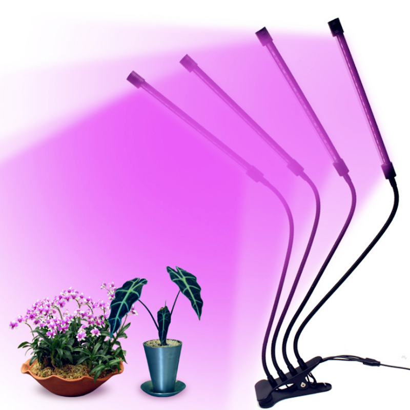 LED Grow Light Full Spectrum Flexible Gooseneck USB Dimmable Timer Plant Light For Greenhouse Indoor Plants Seedlings Hydro Lamp