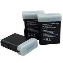 Batterie de caméra pour Nikon, 1500mAh, EN-EL14a EL14a EN-EL14 en el14, D5300 D5200 D5100 D3300 D3200 D3100 P7100 P7700 P7800 P7000