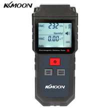 KKMOON Portable Digital LCD Electromagnetic Radiation Tester Electric Magnetic Field Dosimeter Detector with Sound Light Alarm