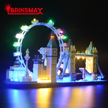 BriksMax Led Light Up Kit For Architecture London Great Britain Building Blocks Compatible With 21034 (NOT Include Model)