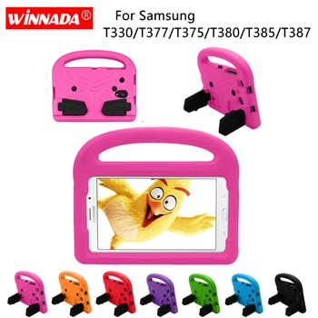 Case For Samsung T380 T385 Kids Tablet Protecter shock proof EVA Hand-held Stand Cover for Galaxy Tab A 8.0 T387 T377 T375 T330 tab a 8 0 2017 litchi folio pu leather case flip cover for samsung galaxy tab a 8 0 2017 a2s t380 t385 sm t385 tablet case