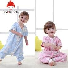 6-слойное хлопковое газовое платье для маленьких спальный мешок Весна и осень тонкая детская Всесезонная Универсальный нагрева комнаты ножки малыша анти-kick