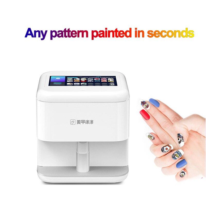 Машина для дизайна ногтей, многофункциональный цифровой 3D принтер с гелем и картриджем, 2020