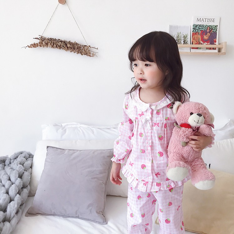 Girls Infant Long Sleeve 0-1-3-Year-Old 2 Spring And Autumn Spring Thin 4 Princess 5 Baby Pajamas Pure Cotton Blended Cloth 10