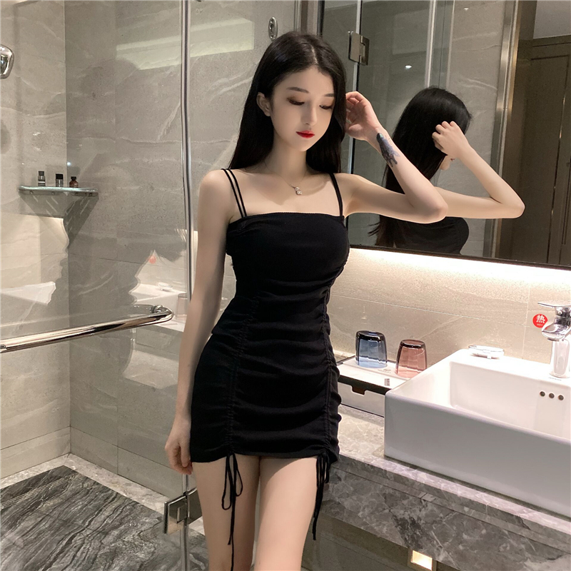 Suspender dress for women summer Tight hips Sexy nightclub cozy Very tempting Short dress Ladies dresses image