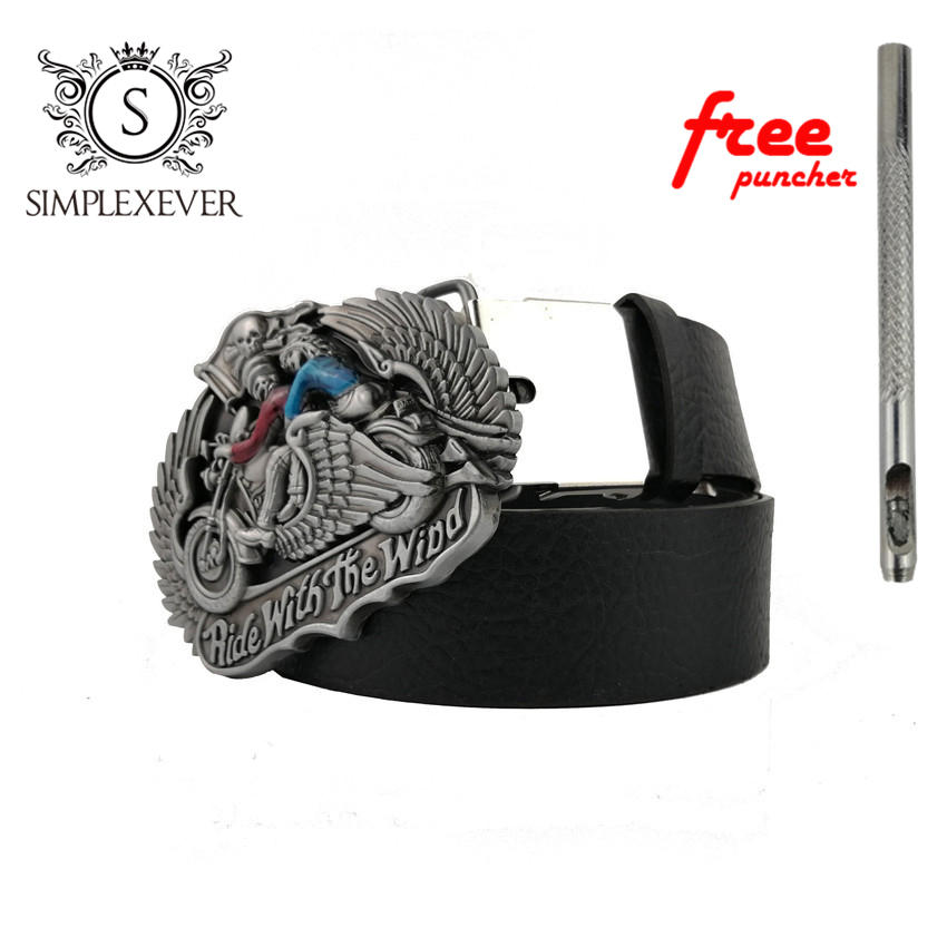 Motorcycle Belt Buckle For Men With Leather Belt Antique Metal Belt Buckle For 4cm Wide Belt Dropshpping 2020