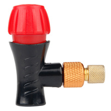 Bicycle Air Pump Head Bicycle for Co2 Bottle Schrader Presta Valve Fast Inflatable Road Mtb Mountain Bike Air Inflator Accesso