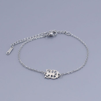 100% acier inoxydable délicat sage hibou bracelet à breloques pour les femmes en gros incroyable qualité livraison directe OEM bijoux commande acceptée