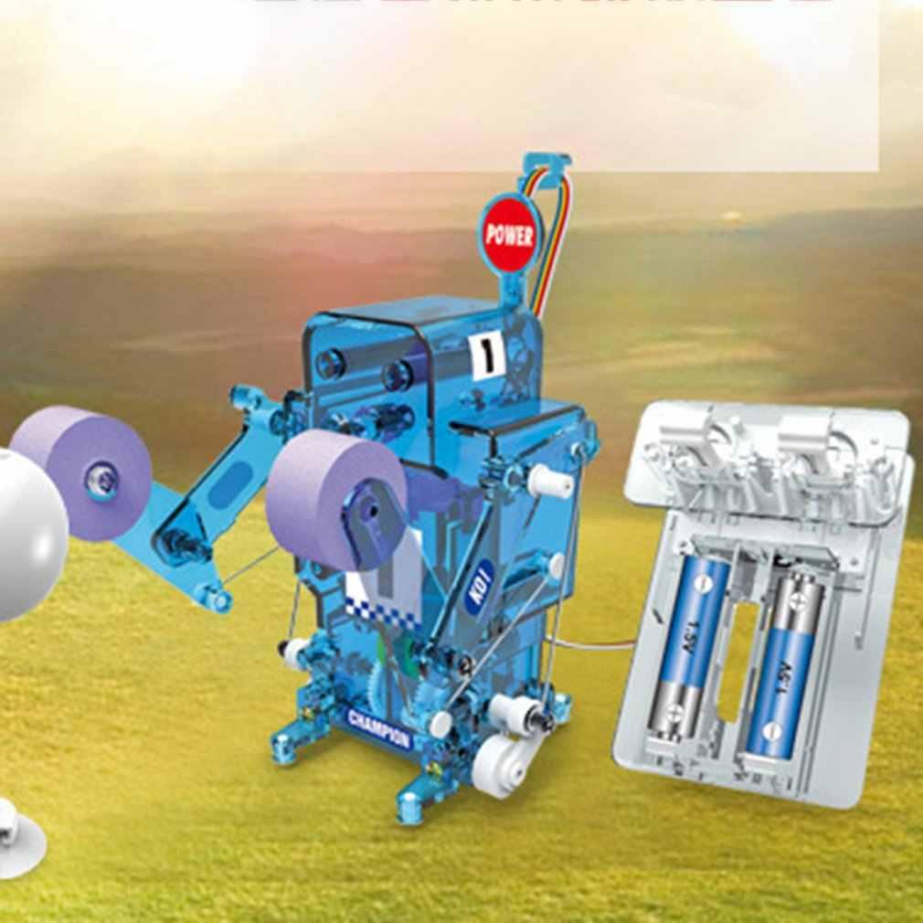ذاتية التحميل روبوت كهربائي الأطفال تجميع الملاكمة روبوت لعبة مجسمة لعبة أطفال ألعاب تعليمية