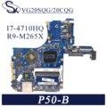 KEFU VG20SQG/20CQG материнская плата для ноутбука Toshiba Satellite P50-B P55T-B оригинальная материнская плата I7-4700HQ/4720HQ R9-M265X