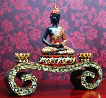 36 см большой # хороший Будда Сакьямуни # Юго Восточная Азия Таиланд домашняя семья эффективное благословение декоративная статуэтка сидящи