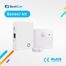 Новое поступление 2020, комплект датчиков Broadlink BestCon, беспроводной комплект сигнализации и безопасности для умного дома, IOS, Android, пульт дистанционного управления