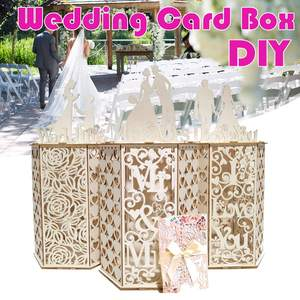 DIY Wooden Wedding Card Box for Money Bo