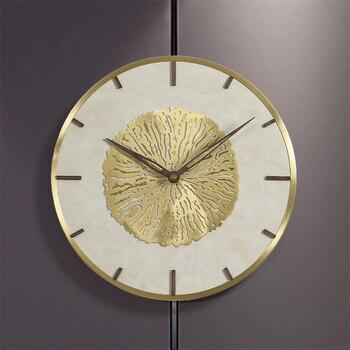 Reloj de pared silencioso nórdico de lujo, reloj de pared creativo de diseño moderno, reloj de pared dorado para niños, reloj de pared para niños JJ60WC
