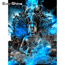 Evershine 5D diamante pintura religión de Buda taladro completo cuadrado diamante bordado venta punto de cruz Kit retrato Zen Kit para manualidades(China)