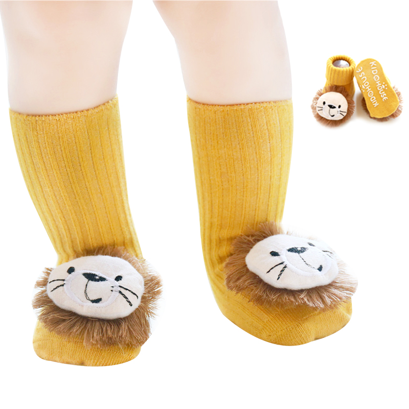 Kids Newborn Baby 3D The Lion King Cartoon Lovely Anti-slip Sock Shoes Boots Floor Girls Boys Slipper Socks