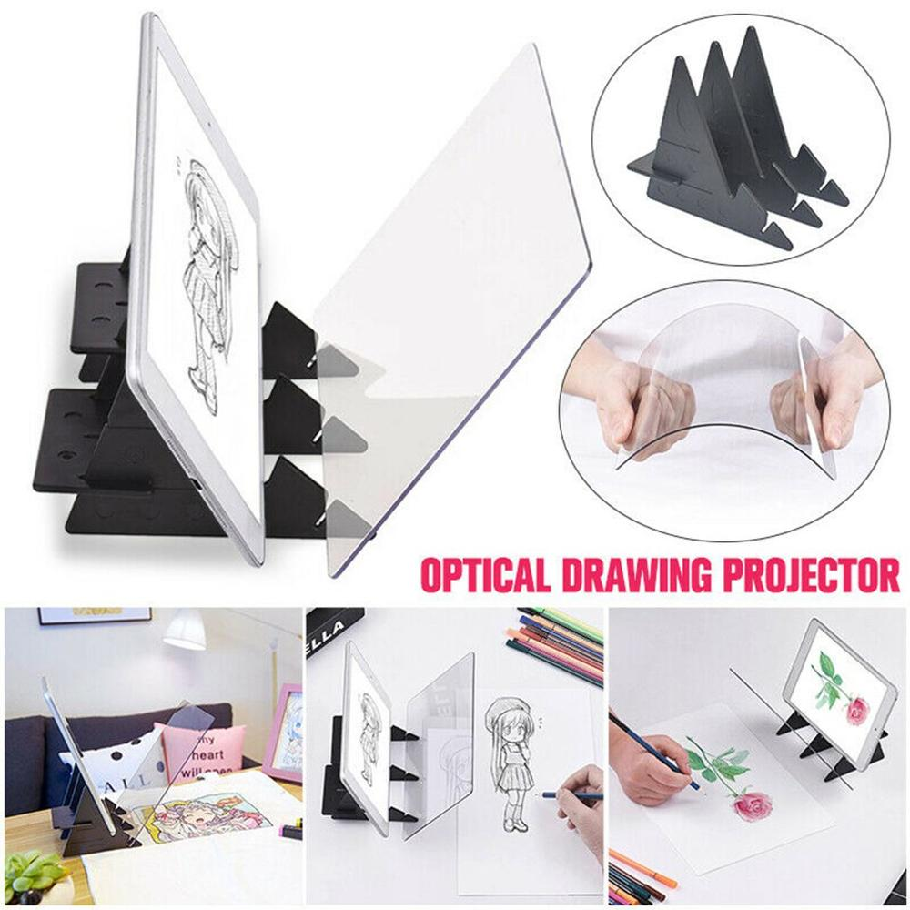 Optical Imaging Drawing Board Lens Sketch Specular Reflection Dimming Bracket Holder Painting Mirror Plate Tracing Copy Table 5