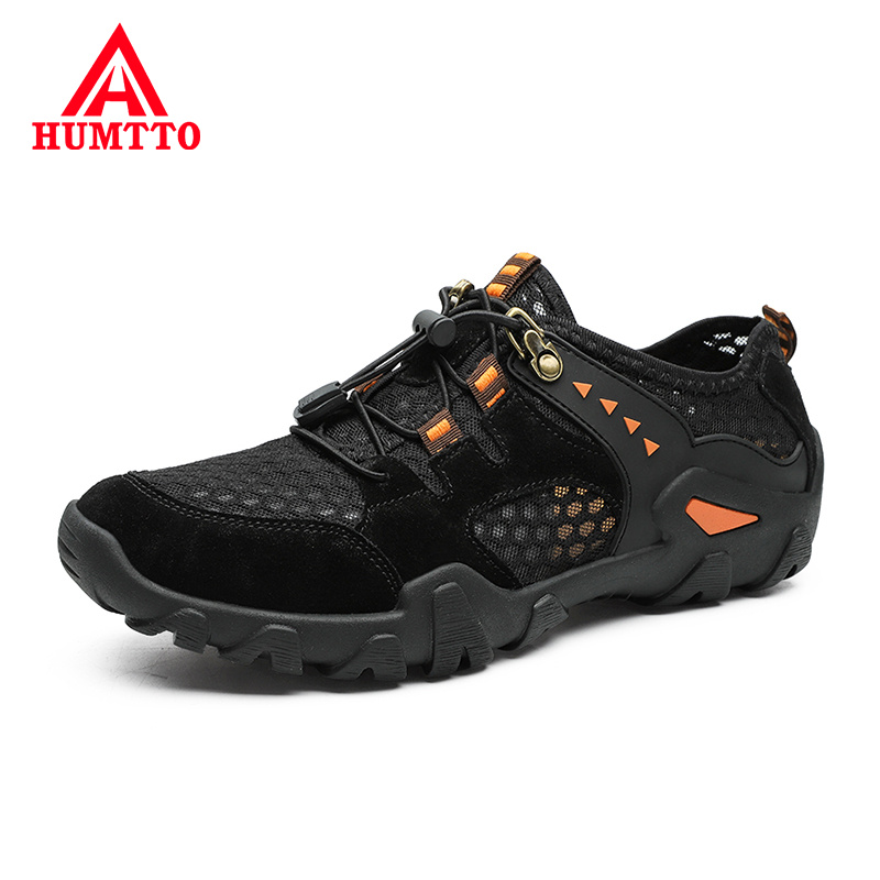 Cheap 2020 Summer Breathable Hollow Mens Shoes Light Casual Shoes Men Fashion Elastic Band Male Luxury Brand Sneakers Big Size 38-46