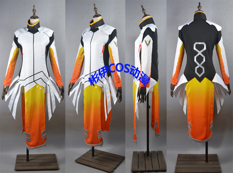 Game OW Mercy/Angela Ziegler Cosplay Costumes Fashion Sexy Combat Uniform Suit Role Play Prop Clothing High Quality Custom-Make
