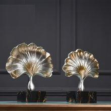 Ретро мебель в виде листьев гинкго украшение для дома креативная
