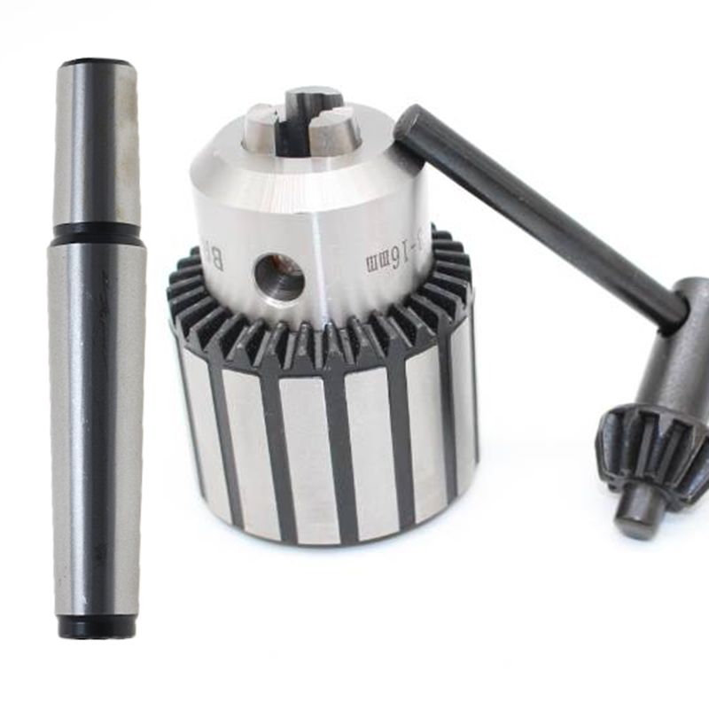 1set Precision morse cone MT2 MT3 MT4 B10 B12 B16 B18 light Duty key Drill Chuck 0.6-6mm 1.5-13mm 1-10MM Taper Arbor CNC machine(China)