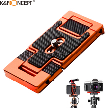 K&F Concept Aluminum Alloy Quick Release Plate with 1/4 Inch Screw tripod for Camera Cage Cell Phone