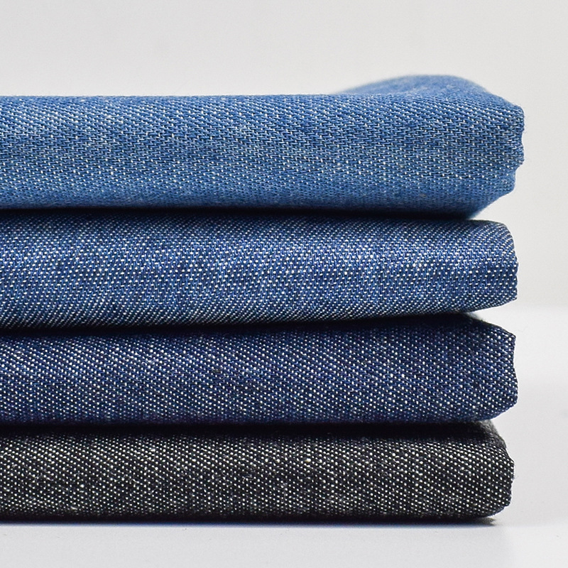 Factory wholesale denim fabric jeans washed twill woven 100% cotton 32S