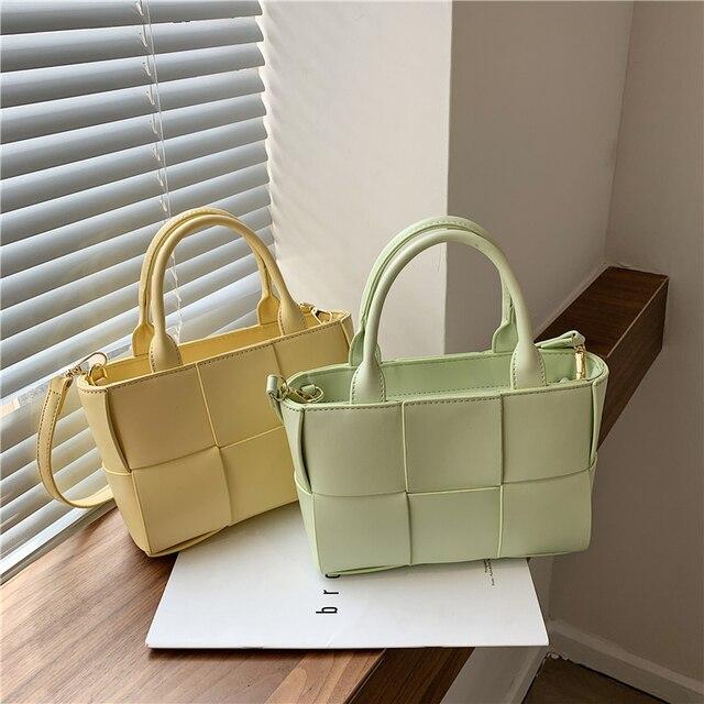 Knitting Shoulder Designer Tote Bag 17